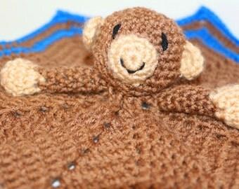 Monkey Snuggle Blanket baby blanket toy monkey blanket