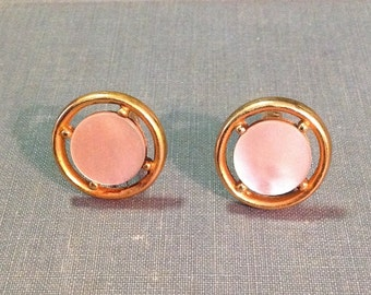 Foster designer cuff links cufflink signed mother of pearl MOP gold tone metal suit tuxedo accessory retro chic formal wear prom wedding