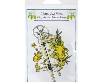 ON SALE Class Act Cling Stamp - Harvest Cart