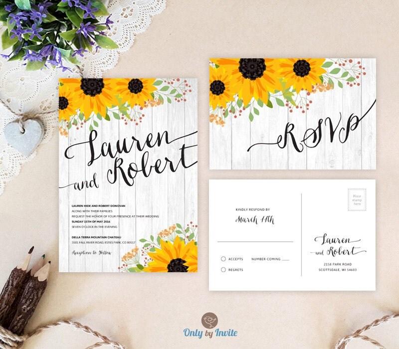 Cheap Wedding Invitations Sets: Cheap Rustic Wedding Invitation Sets Printed On Premium Card