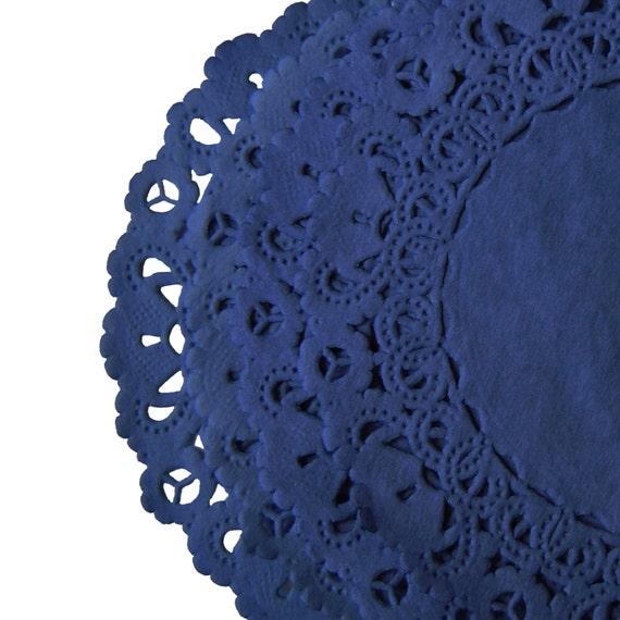 NAVY BLUE Color Paper Lace Doilies  4