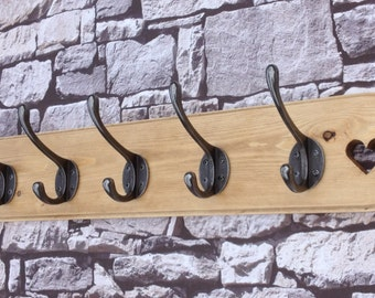 Hat and Coat rack vintage rustic style handmade shabby chic