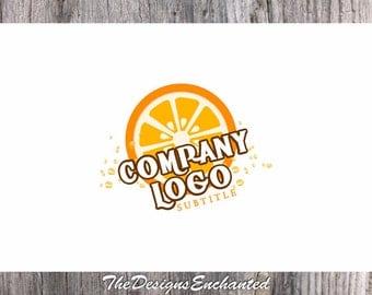 Logo Design OOAK Logo Premade Logo and Watermark Food Logo Fruit Logo Juice Logo Restaurant Logo Custom Logo Business Logo Logo Designer
