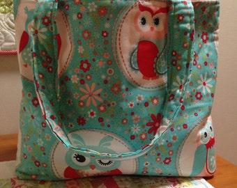 Grab & Go Tote Bag - Owls