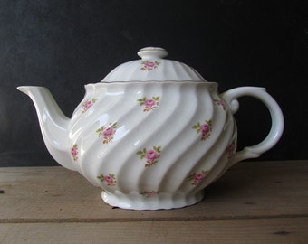 China Teapot Vintage Straffordshire Old Foley Rose Teacpot