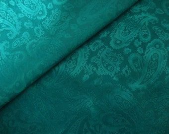 Turquoise Silk Paisley Neck Scarf