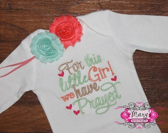 For this little Girl we have Prayed Embroidered Shirt
