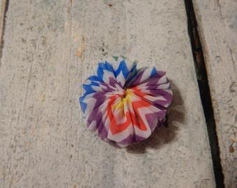 Mini Chevron Rainbow Flower- Sadie Style*