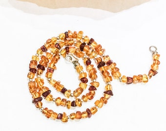 Amber and 925 Silver Necklace