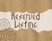 Reserved for Melanie