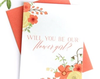 Will You Be Our Flower Girl/Bridesmaid/Maid of Honor Card | bridal party card wedding party card