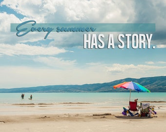 Every Summer Has A Story -Bear Lake Utah color postcard
