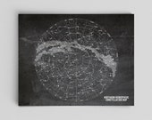 Constellation Print Constellation Map Stars Map Chalkboard Astronomy Poster Geekery Science Gift Science Art Office Decor Gifts for Teachers