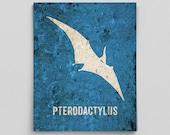 Pterodactylus Poster Baby Dinosaur Nursery Print Pterodactyl Science Poster Cute Boys Nursery Decor Boy Nursery Decor Prints for Baby Room