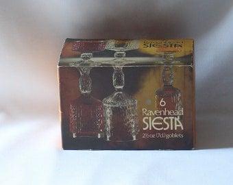 Retro Ravenhead Siesta Goblets 1960's Vintage Unused in Box