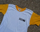 """Flippin' Cool Vintage 80's Bell Aerospace """"Textron"""" Ringer Style T-Shirt"""