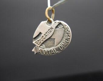 ABWA Education Charm Sterling Silver American Business Womens Association Bird In Flight A Vital Dimension 925 Vintage
