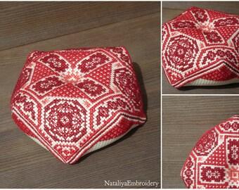 PDF cross stitch pattern: Biscornu Scandinavian Ornament