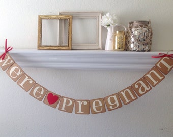 We're Pregnant Banner  Pregnancy Announcement