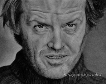 Jack Nicholson from The Shining Mounted Fine Art Print