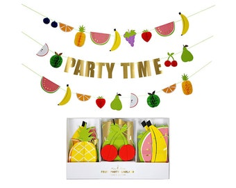 Fruit Honeycomb Garland by Meri Meri, Fruit Party Collection, Party Banner, Party Supplies
