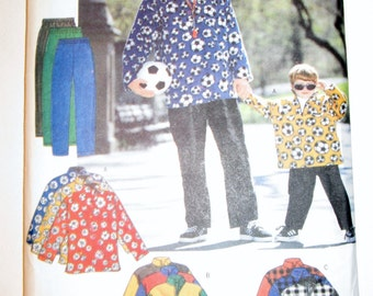 1998 Butterick 5709 Father and son pullover top and pants all sizes included UNCUT