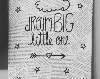 Dream Big Nursery Canvas Art
