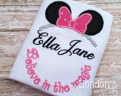 Personalized Believe in Magic ! Embroidered T-shirt/ Toddler T-shirt