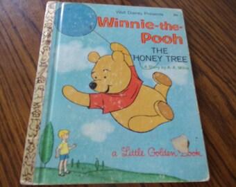 VINTAGE LITTLE GOLDEN Book - Walt Disney Presents - Winnie the Pooh - The Honey Tree