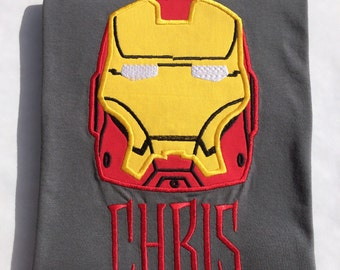 IRON MAN-Avengers Personalized Embroidered T-Shirt-ADULT