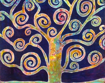 "Tree of Life giclee print 12"" x 12"" from my original painting"