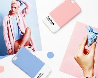 iPhone case - Pantone's 2016 trend colors 'Rose Quartz' - iPhone 6s case, iPhone 5s case, iPhone 7 case non-glossy L29.