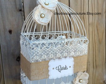 Wedding Birdcage Card Holder, Wedding Card Holder, Birdcage Decor,Bridal Shower Birdcage,Wedding,Cards,Birdcage,Shabby Chic Wedding Birdcage