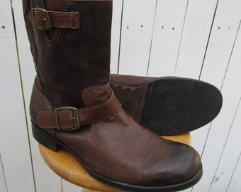 Brown Engineer Boots, Harness Boots