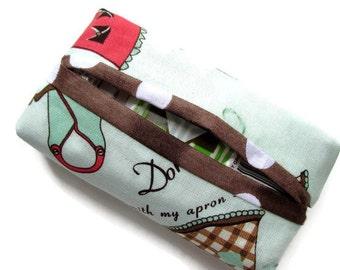 Boxy Tissue Holder, Cook, Chef, Apron Design, Novelty Fabric