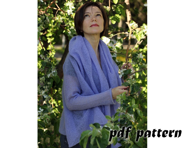 Knitting Pattern Mohair Jacket : KNITTING PATTERN Women cardigan Knitting pattern Mohair