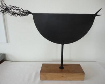 Chicken Sculpture / Metal Sculpture / Farmhouse Modern / Modern Sculpture / Black Sculpture