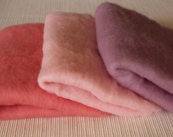 Wool fleece blanket Wool fluff basket stuffer newborn photo prop 3.5 oz