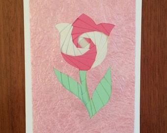 Iris Folded Flower Card