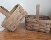 pair of 1980s  Longaberger Easter baskets