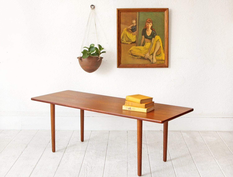 Teak Danish Modern Coffee Table Mid Century Modern Vintage