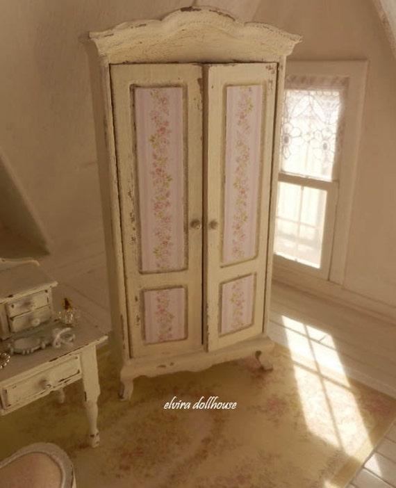 Doppio armadio stile shabby casa delle bambole in miniatura - Camera da letto stile harry potter ...