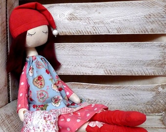 Cloth doll Rag doll, handmade doll, ballerina doll, sleepy doll