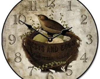 Nest & Eggs Clock