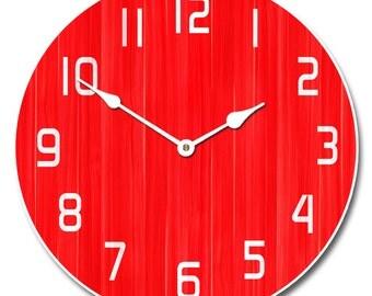Retro Red Clock