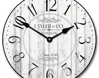 Harbor White Wall Clock