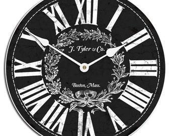 Manor House Black Wall Clock