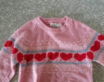 Sweetheart vintage sweater Girls size 10
