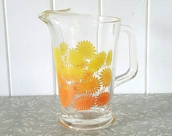 Yellow Floral Pitcher Jug