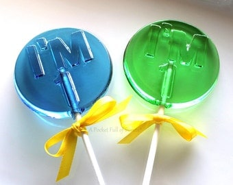 1st Birthday Party Favors, Number Party Favors, Number 1 Lollipops, Table Numbers, Number ONE, Turning 1, Set of 5 Barley Sugar Lollipops